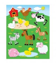 Boerderij Vorm Stickers - 12st