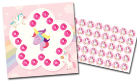 Beloningssysteem Eenhoorns met stickers - Complete Set
