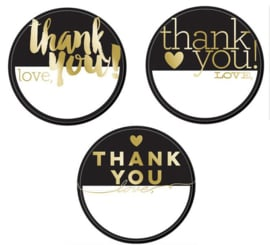 Thank You - Label stickers (3 stuks)