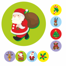 Grote Kerst 19mm - 54 Stickers