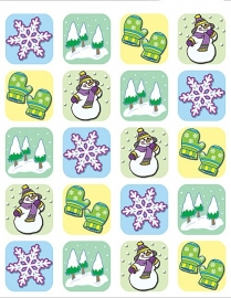 Winterseizoen - 20 stickers
