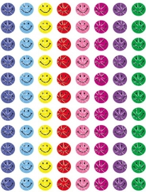 Blije Glittersmileys Mini - 88 Stickers