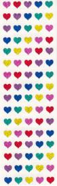 Glitter Micro Hartjes - 80 Stickers