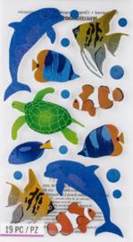 Onderwater Glitter - 19 Stickers