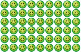 Beloningsstickers Groene Smilies 19mm - 54 Stickers