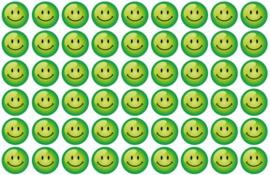 Beloningsstickers Groene Smilies 19mm - 54 Stickers
