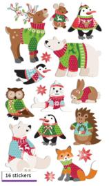 Wollen truiendieren - 16 stickers