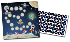 Beloningssysteem Ruimte met stickers - Complete Set