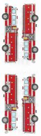 Brullende Brandweer - 4 Stickers
