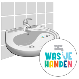 """Was je Handen"" - Set van 2 Stickers"