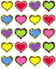 Bonte Hartjes - 20 Stickers