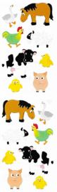 Vrolijke Boerderijdieren- 16 Stickers