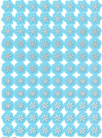 Sneeuwvlokjes - 88 stickers