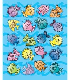 Vissen Vorm Stickers - 20st