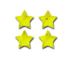 Sterren Goud Glimmend Stickers - 90 Stickers