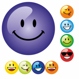 Beloningsstickers Malle Smileys Klein 10mm- 96 Stickers