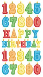Verjaardagskaarsjes - 33 stickers