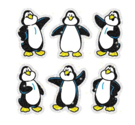 Glitter Vorm Pinguin -  30 stickers