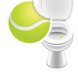 Toilet Stickers Tennisbal 20mm - 2 Stickers