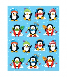 Winterpinguin Vorm Stickers - 14st