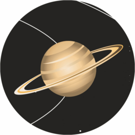 Beloningsstickers Zonnestelsel en Planeten 19mm - 54 Stickers