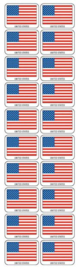 Amerikaanse Vlag - 20 Stickers