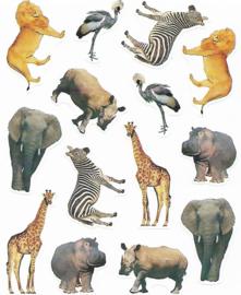 Dieren van de Serengeti - 14 Stickers