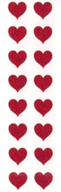 With Love Glitter - 16 Stickers