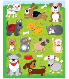 Honden en Katten - 13 stickers