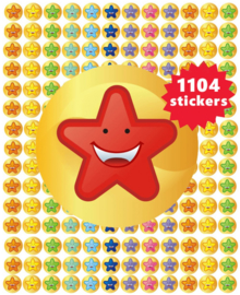 Smiley Stickers Sterren 10mm- 1104 Stickers