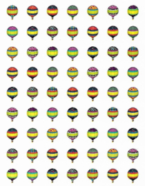 Mini Luchtballon - 63 Stickers