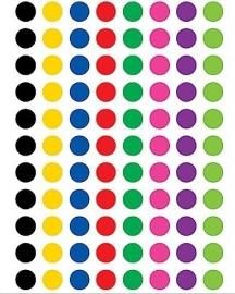 Gekleurde Stippen - 88 Stickers
