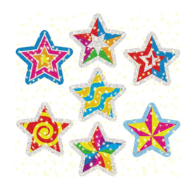 Glitter Vorm Star Power -  35 stickers