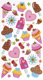 Zalige zoetigheden - 36 stickers