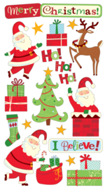 Merry Christmas Glitterstickers - 20 stickers