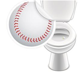 Toilet Stickers Honkbal 20mm - 2 Stickers