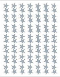Zilveren Sterren Stickers - 98 Stickers