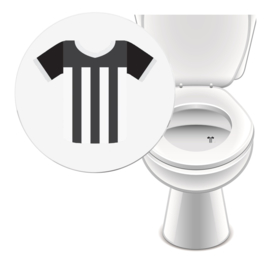 Toilet Stickers Zwart Wit Shirt - 2 Stickers
