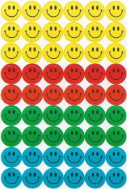 Toffe Smileys - 54 Stickers
