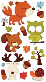 Bolle bosvriendjes - 17 stickers