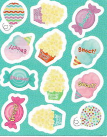 Luchtige Snacks  - 12 Stickers