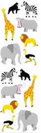 Wilde Dieren - 14 Stickers