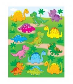 Dinosaurus Vorm Stickers - 13st