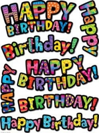 Happy Birthday - 7 stickers