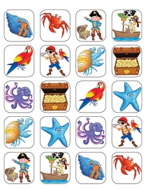 Pirateneiland - 20 stickers