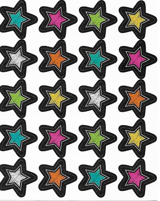 Krijtsterren  - 20 Stickers