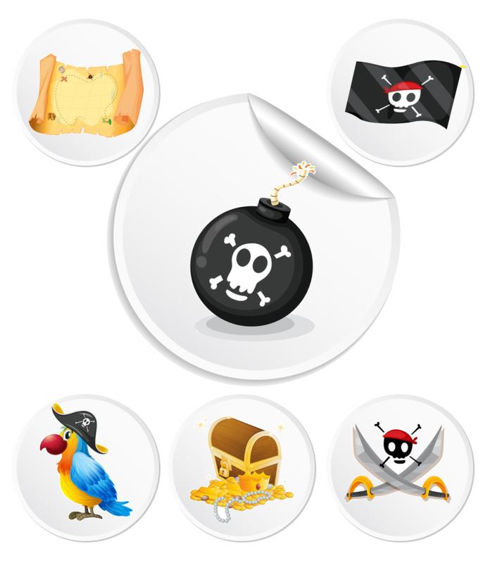 Beloningssysteem Piraten met stickers - Complete Set