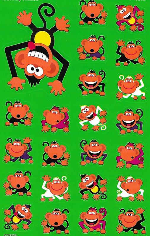 Gekke Aapjes - 23 Stickers