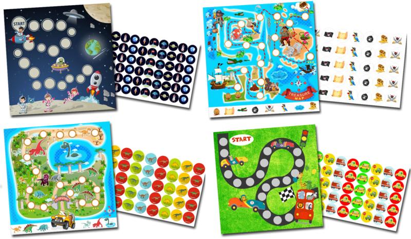 Beloningssysteem voor jongens met stickers - Grote Set