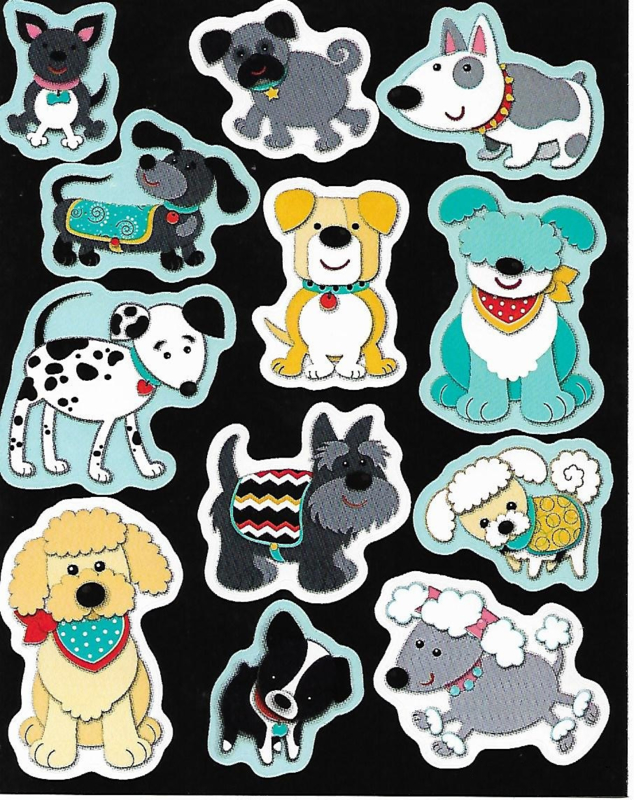 Fun With Dogs  - 12 Stickers